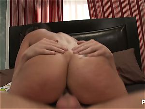 big-chested Charley chase splooging pummel session