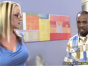 huge-boobed cougaree Siren luvs double foray