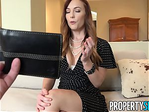 PropertySex red-haired Dani Jensen tears up Her client