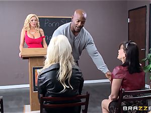 Summer Brielle is opened up broad open by a big black cock