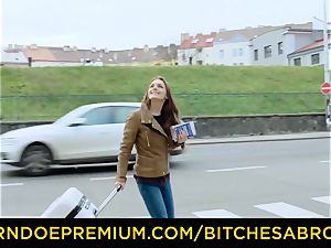 bitches ABROAD - super-steamy tourist stunner boinks foreign pipe