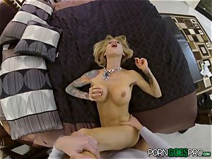 ache or elation for horny towheaded babe Sarah Jessie smashed in her luxurious vulva point of view fashion