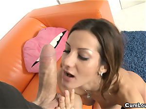 sexy Alice Romain loves hard-core rail