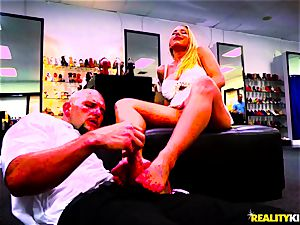 boot Seller JMac and insatiable uber-sexy mummy Olivia Austin in the store