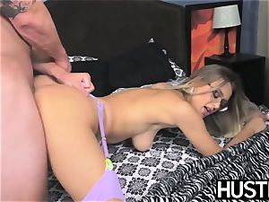 huge-titted Natalia Starr is rectally drilled and facialized