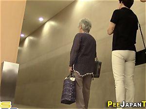 unshaved japanese explodes urine