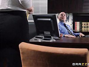 assistant Jayden Jaymes porks on the bosses desk
