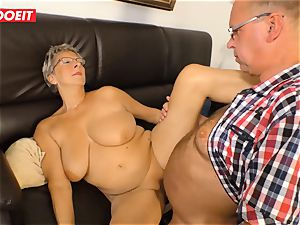 German grandmother loves pounding her Neighbor #LETSDOEIT