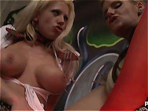 Tanya & Phoenix schoolgirl 3 way