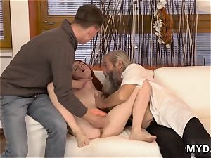 father acquaintance s daughter-in-law very first sudden practice with an senior gent
