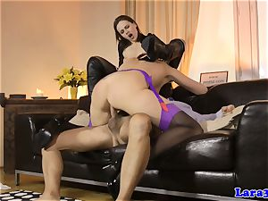 glamour mature spunked in throat in 3 way