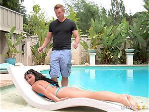 Kylie Sinner exchanges bum butt-plug for her stepbrothers salami