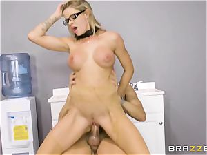 Office porn with insatiable fresh assitant Jessa Rhodes and her gigantic chief Keiran Lee