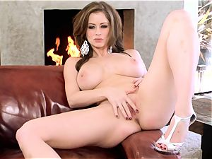 Emily Addison stunner taking off her sexy lingerie