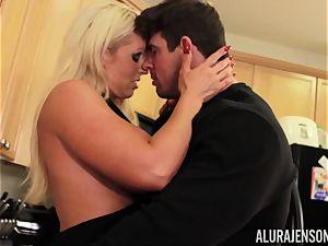 Alura Jenson gets pulverized by fat muscle man Zeb Atlas