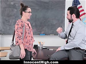 InnocentHigh - college girl screws Her Way Out Of grief