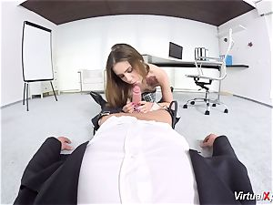 ultra-cute Elle Rose point of view romped