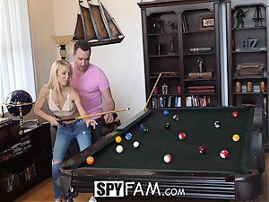 SpyFam Stepmom Laura Bentley bangs stepson