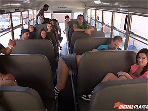 Public school bus cunny hitting Maddy OReilly