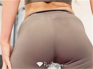 PUREMATURE Sexual teaching gym penetrate with milf