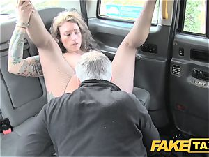 fake taxi Backseat exhilarates for cab drivers