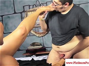 Ava Devine gets a mouthhole of spunk from a few weenies