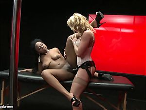 tough Kathia Nobili thrusts her cable on sausage deep down her accomplice gullet