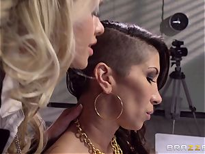 Cops Jessa Rhodes and Kendra James drill prisoner Kayla Carrera