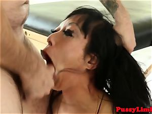Bigtitted chinese crud facefucked and pummeled