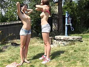 Outdoor snatch playtime Lucy Ly and Andy Darling