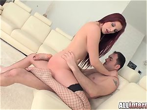Tall dame Mira's pussy is fucked and packed with spunk