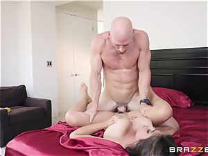 naughty honey Ella Knox warm facial after rough screw