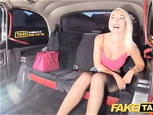 fake taxi gorgeous blondie in cock-squeezing denim cut-offs