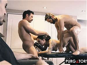 PURGATORY I let my wife pulverize two studs in front of me