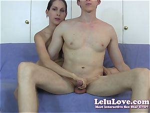 Reaching around to stroke his man-meat just like he would