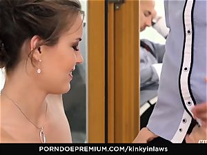 kinky INLAWS - euro bride smashed deep by stepson
