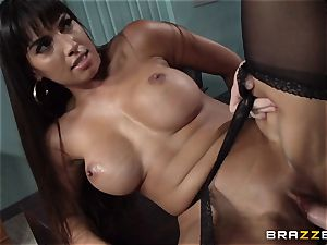 Mercedes Carrera pokes her daughters-in-law boyfriend at work