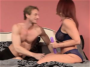 ginger-haired mummy Janet Mason pummels her toyboy spouse