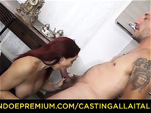 audition ALLA ITALIANA - chesty novice goes for assfuck fucky-fucky