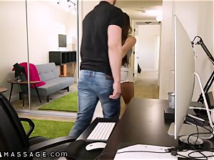 NuruMassage Abigail Mac pleads Step-Bro to Get in shower