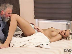 DADDY4K. lady rides senior gent s joystick in parent porno video