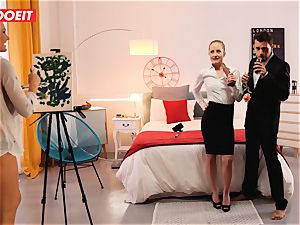 LETSDOEIT ultra-kinky Artist screws super-fucking-hot Spanish couple