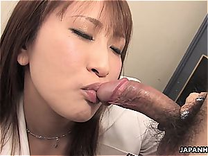 chinese biz babe has to get physical from time to time