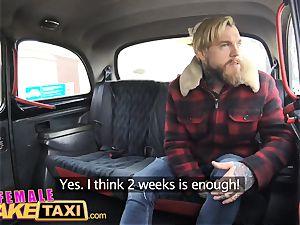 doll fake taxi wondrous Englishman pays in jism