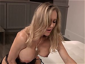 Brandi enjoy plows a man in elegant dress