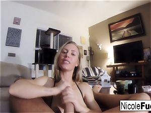 Home vid of Nicole Aniston giving a pov fellate Job