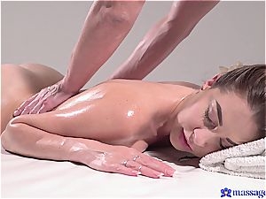 super-fucking-hot rubdown turns to sensuous hook-up and this brown-haired princess loves it