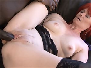Mature gal multiracial gonzo cooch ravaged swallows