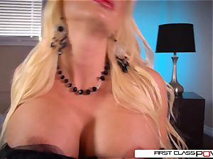 FirstClassPOV-Summer Brielle fellate a hefty dick, huge hooters