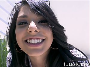 Jules Jordan - Gina Valentina's first anal invasion